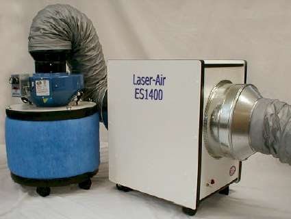 portable commercial air cleaner with carbon